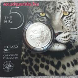 Big Five - Az Öt Nagy - Leopárd 2020 1 uncia ezüst érme Dél-Afrika