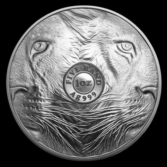 Big Five - Az Öt Nagy - Oroszlán 2019 1 uncia ezüst érme Dél-Afrika