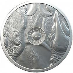 Big Five - Az Öt Nagy - Orrszarvú 2020 1 uncia ezüst érme Dél-Afrika