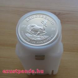 25x Krugerrand 2020 1 uncia ezüst érme (teljes tubus)