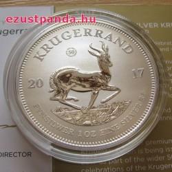 Krugerrand 2017 1 uncia ezüst érme jubileumi kiadás