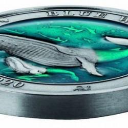 Kék bálna 2020 3 uncia ezüst pénzérme Barbados