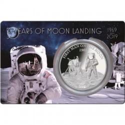 Az első ember a Holdon 1969-2019 1 uncia proof ezüst pénzérme Barbados