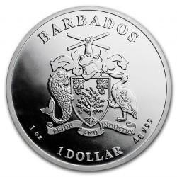 Csikóhal 2018 1 uncia ezüst pénzérme Barbados
