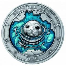 Fóka 2020 3 uncia ezüst pénzérme Barbados