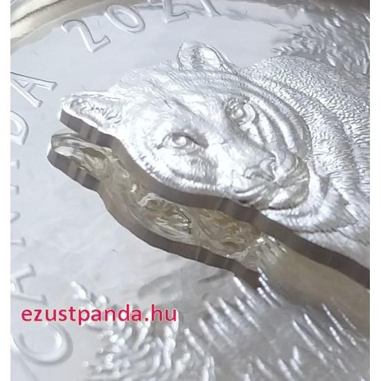 Puma 2021 105,6 gramm kanadai proof ezüst pénzérme - KÉTRÉTEGŰ VERET!