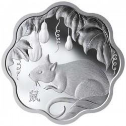 Lunar Lotus Egér 2020 1 uncia proof ezüst pénzérme