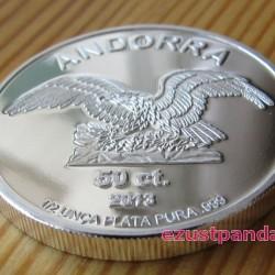 Andorra Diner 2013 1/2 uncia ezüst pénzérme