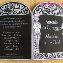 Reneszánsz Madonnák - Correggio 2013 50g proof ezüst pénzérme
