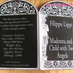 Reneszánsz Madonnák - Filippo Lippi 2013 50g proof ezüst pénzérme