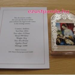 Reneszánsz Madonnák - Lorenzo Lotto 2014 50g proof ezüst pénzérme