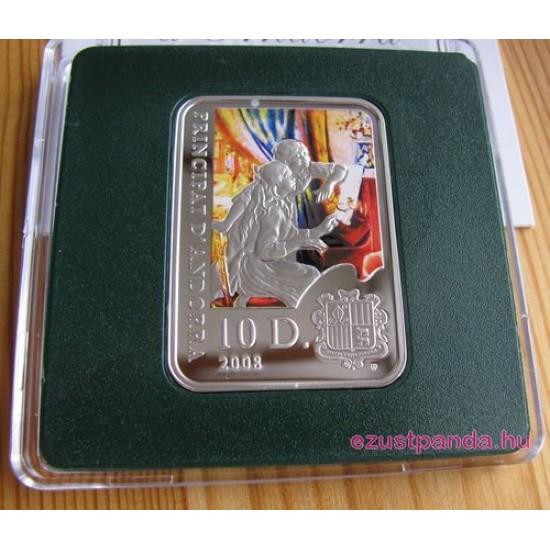 A Világ festői: Renoir - Andorra 2008 színes ezüst pénzérme