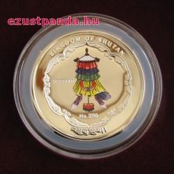 Buddha aranyozott 1 uncia aranyozott ezüst pénzérme 2015