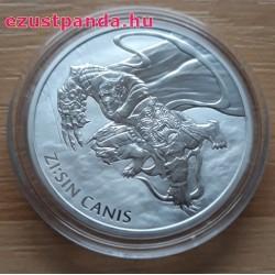 Zi:Sin Canis 2018 1 uncia ezüst pénzérme Dél-Korea