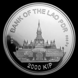 Patkány éve 2020 2 uncia proof ezüst pénzérme Laosz