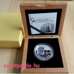 Dzsingisz Kán 2016 mongol 1 uncia proof high-relief ezüst pénzérme