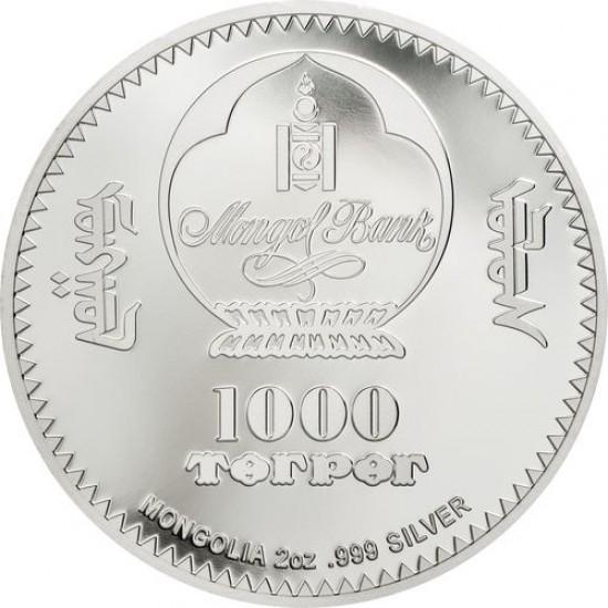 Fabergé tojás 2020 mongol 2 uncia ezüst pénzérme