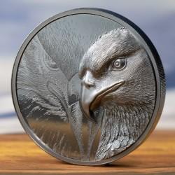 Fenséges sas 2021 2 uncia liechtensteini black proof ezüst pénzérme