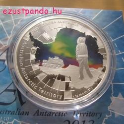 Antarktisz - Aurora sarki fény 2013 1 uncia proof ezüst pénzérme