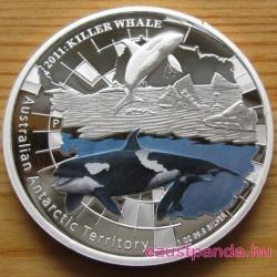 Antarktisz - Gyilkos bálna 2011 1 uncia proof ezüst pénzérme