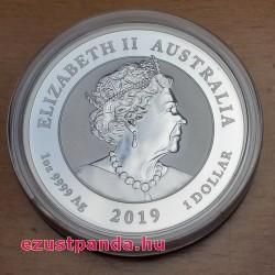 Apollo 11 2019 1 uncia ausztrál ezüst pénzérme