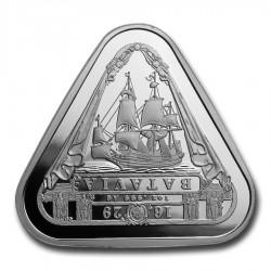 """Hajótörés """"Batavia"""" 2019 1 uncia 1AUD ezüst pénzérme, háromszögletű"""
