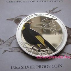 Ausztrália madarai - Bársonyos aranymadár 2013 1/2 uncia színes ezüst pénzérme