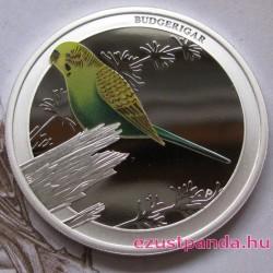 Ausztrália madarai - Hullámos papagáj 2013 1/2 uncia színes ezüst pénzérme