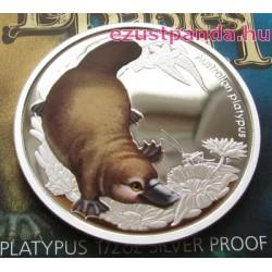 Bush Babies2 - Kacsacsőrű emlős 2013 1/2 uncia színes ezüst pénzérme