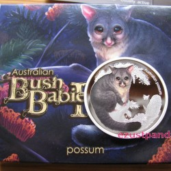 Bush Babies2 - Oposszum kölyök 2013 1/2 uncia színes ezüst pénzérme