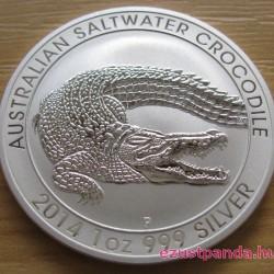 Krokodil 2014 1 uncia ezüst pénzérme