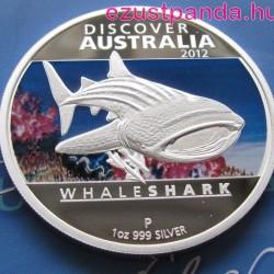 Discover Australia 2012 Whaleshark - Cetcápa 1 uncia proof ezüst pénzérme