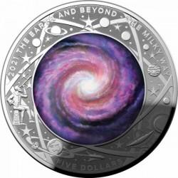 A Tejút 2021 ausztrál proof ezüst pénzérme, domború
