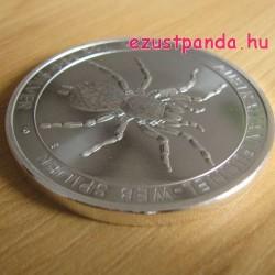 Tölcsérhálós pók 2015 1 uncia ezüst pénzérme