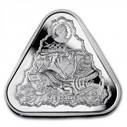 """Hajótörés """"Vergulde Draeck"""" 2020 1 uncia 1AUD ezüst pénzérme, háromszögletű"""
