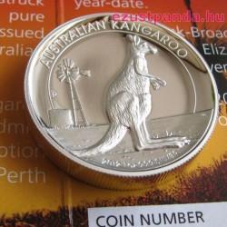 Kenguru 2012 1 uncia high relief ezüst pénzérme