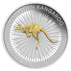 Kenguru 2016 1 uncia aranyozott ezüst pénzérme 999,9 finomságú