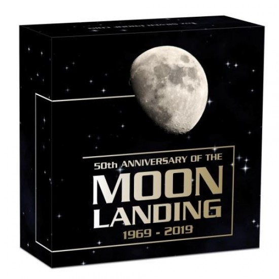 Apollo 11 Perth Mint 2019 1 uncia ausztrál proof ezüst pénzérme