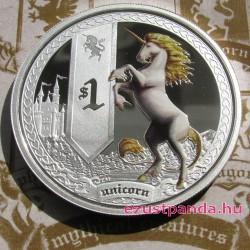 Mitológiai lények - Egyszarvú 2013 1 uncia színes ezüst pénzérme