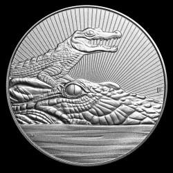 Új nemzedék - Krokodil 2019 2 uncia piedfort ezüst pénzérme