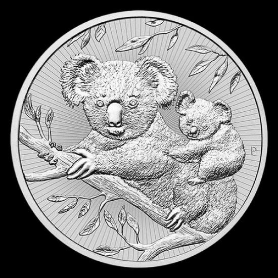 Új nemzedék - Koala 2018 2 uncia piedfort ezüst pénzérme