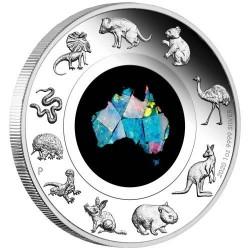 Opál Ausztrália 2020 1 uncia proof ezüst pénzérme