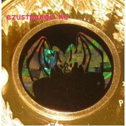 Opál sorozat - Denevér (Fakó álvámpír) 2015 1 uncia proof ezüst pénzérme