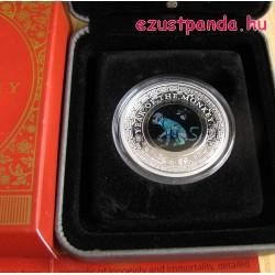 "Opál ""Majom éve"" 2016 1 uncia proof ezüst pénzérme"