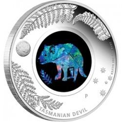 Opál sorozat - Tasmán ördög 2014 1 uncia proof ezüst pénzérme