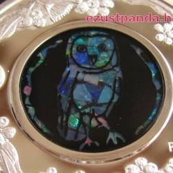 Opál sorozat - Gyöngybagoly 2014 1 uncia proof ezüst pénzérme