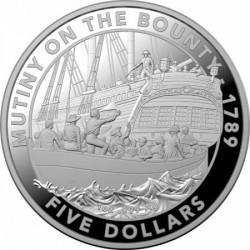 Lázadás a Bounty-n 2019 ausztrál proof ezüst pénzérme