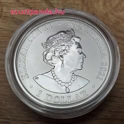Gepárd 2021 1 uncia ausztrál ezüst pénzérme