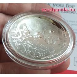 Tigris éve 2022 1 uncia ausztrál proof ezüst pénzérme (RAM), homorú !
