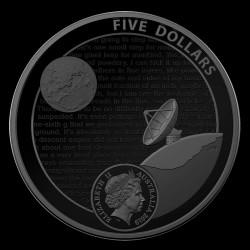 Holdraszállás Apollo 11 2019 1 uncia ausztrál proof, homorú ezüst pénzérme (RAM)